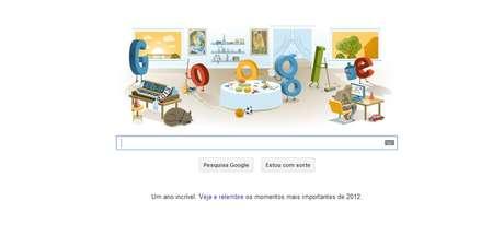 Dia de Ano Novo 2013 foi comemoradopelo Google em doodle especial