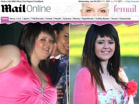 A britânica chegou a pesar 120 quilos por causa de dieta baseada em fast food