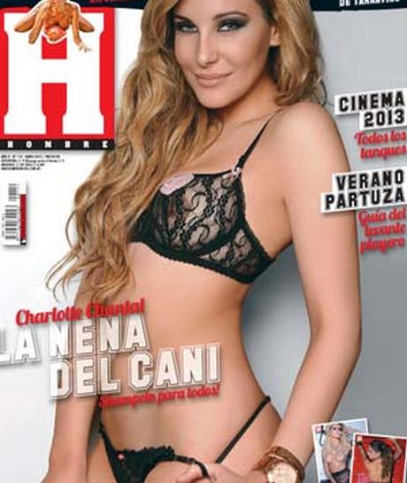 Charlotte, inquietante en la tapa de la revista Hombre