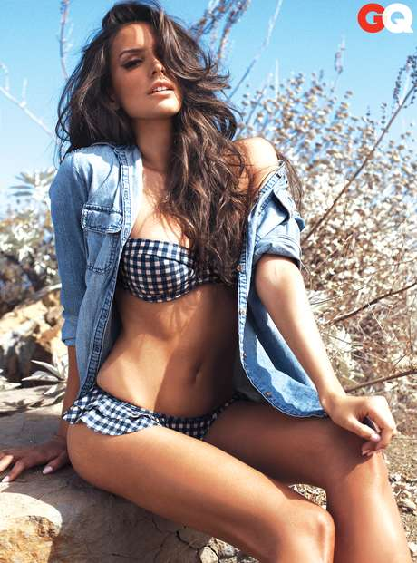 JANUARY 2, 2013: Check out this sizzling shot of El Puma's daughter, Genesis Rodriguez.  The actress opened up (in more ways than one) in the January issue of GQ Magazine about her upcoming films, <i>The Last Stand</i> and <i>Identity Thief</i>.  Did you wipe off your drool yet?
