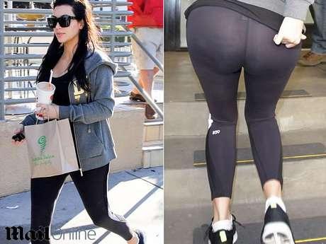 Kim usa calzas sin ropa interior que evidencian su flacidez for Descuidos sin ropa interior