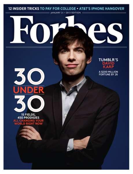 'Forbes' evidencia Karp entre as 30 personalidades abaixo dos 30 anos que se destacam em sua área