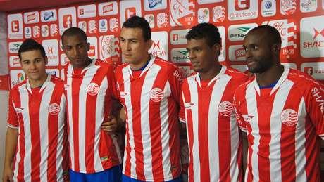 Bruno Colaço, Marcos Paulo, Luiz Eduardo, Auremir e Vinícius Pacheco chegaram ao Náutico