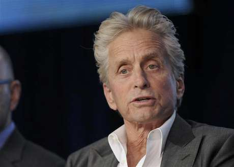 "Actor Michael Douglas takes part in a panel discussion of HBO's ""Behind The Candelabra"" during the 2013 Winter Press Tour for the Television Critics Association in Pasadena, California, January 4, 2013."