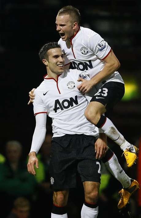 Van Persie evitou a derrota do Manchester United