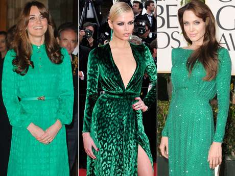 Cor de sapato para vestido verde esmeralda