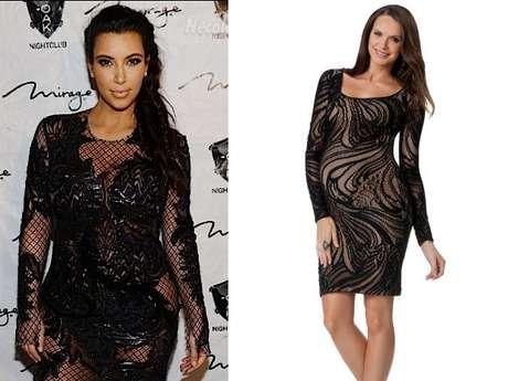 Kim Kardashian aún no tiene barriga de embarazada, pero todos los ojos están puestos en ella y en cómo se verá con pancita. Aquí seleccionamos varios looks que seguramente le quedarán perfecto con su estilo, que incluye mucho cuero, encaje y animal print.<br /><br />En su primera aparición tras anunciar el embarazo, Kim lució un vestido de encaje entallado. Encontramos la versión para embarazadas por 149 dólares. Es de BCBG y lo venden en thepeainthepod.com
