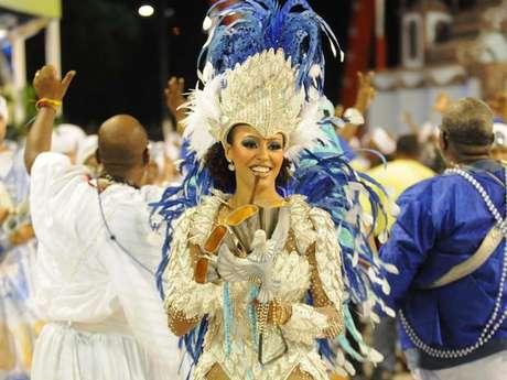 Sheron Menezzes no desfile da Portela
