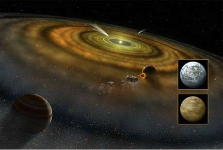 Projeção artística feita pela Nasa mostra cometas fora do Sistema Solar