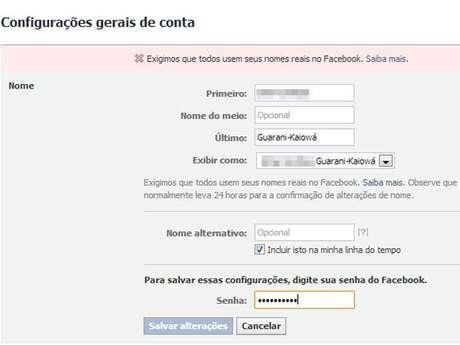 A rede social passou a bloquear tentativa de incluir a etnia entre os nomes do usuário