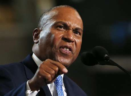 Massachusetts Governor Deval Patrick addresses the first session of the Democratic National Convention in Charlotte, North Carolina September 4, 2012.