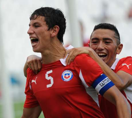 Igor Lichnovsky celebrateshis goal against Colombia in the U20 World Cup qualifying tournament held in Argentina.