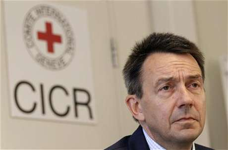 Peter Maurer, President of the International Committee of the Red Cross (ICRC), looks on during a news conference in Geneva September 7, 2012.