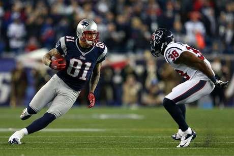 Aaron Hernandez vestiu a camisa dos Patriots na NFL entre 2010 e 2012