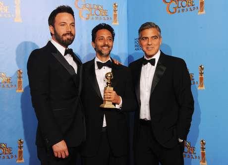 Ben Affleck, Grant Heslov y George Clooney, ganadores de 'Argo'.