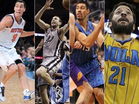 Aunque son pocos, los latinos irrumpen cada vez con mayor fuerza en la NBA. Aquí te presentamos a los 15 miembros de este selecto grupo.