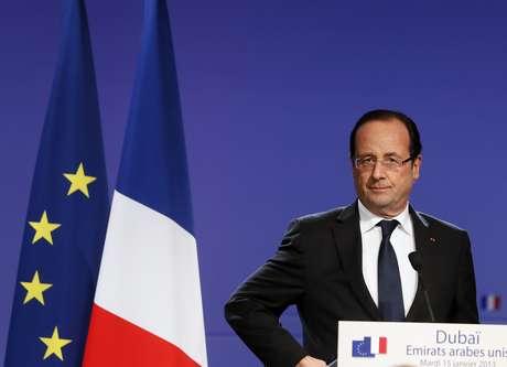 Hollande está em Abu Dhabi, onde está participando da VI Cúpula Mundial da Energia do Futuro