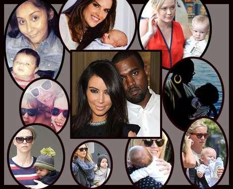 ¿Amigos famosos? No hay duda de que el primer hijo de Kim y Kanye tendrá una amplia gama amistades. Así pues, ¿que cuties celebridades se unirán al bebé de la pareja?