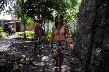 <p>O grupo de índios que vive no localquerem permanecer morando na Aldeia Maracanã durante as obras</p>