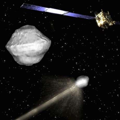 Conceito de missão com o objetivo de desviar rota de asteroide envolve dois veículos espaciais