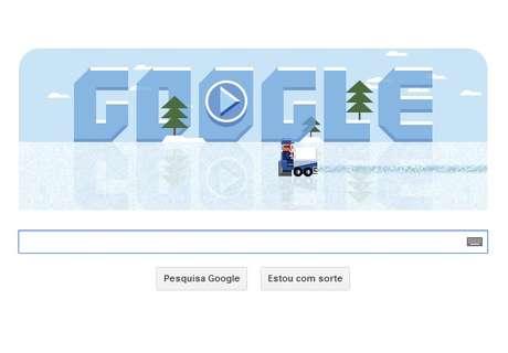 Frank Zamboni é o homenageado em doodle com joguinho no gelo