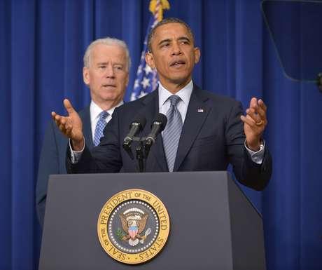 Em entrevista coletiva, o presidente Barack Obama anunciou um plano para o controle de armas nos Estados Unidos