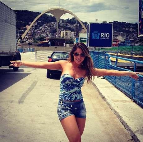 A dançarina será destaque naBeija-Flor de Nilópolis