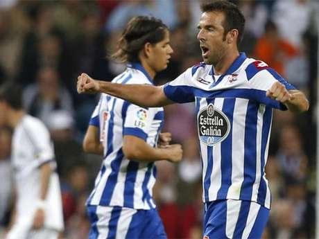 Carlos Marchena, durante un partido con el Deportivo de La Coruña