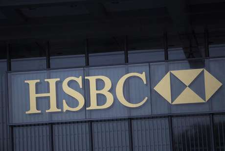 The logo of HSBC is seen on a building in Hong Kong January 9, 2013.