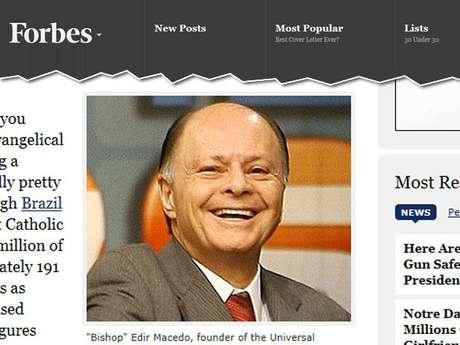 Edir Macedo é símbolo do enriquecimento das igrejas evangélicas no Brasil, diz revista