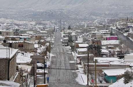 Así luce Ciudad Juárez, en el norteño estado de Chihuahua.