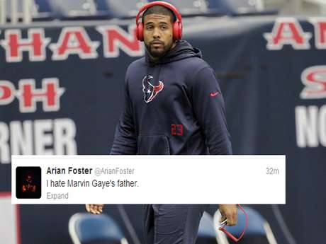 Arian Foster was up to his usual Twitter musings as, we assume, he listened to some Marvin Gaye records.