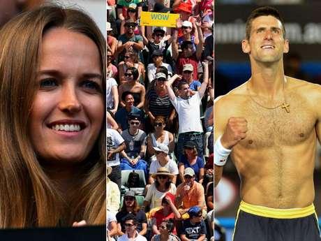 El Abierto de Australia 2013 ha estado lleno de momentos curiosos, protagonizados por celebridades, aficionados y los mismos tenistas.