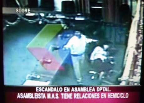 As imagens foram exibidas por emissoras de televisão da Bolívia