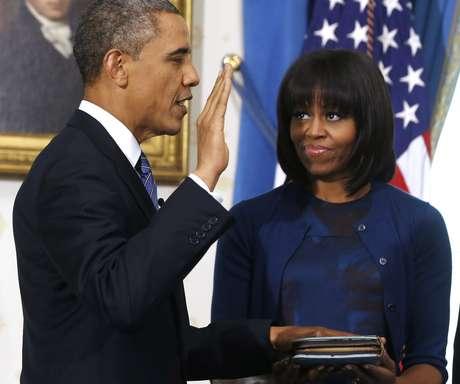Obama jura para un segundo mandato.