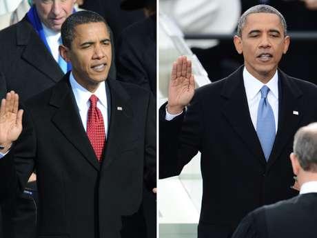 El presidente de EE.UU., Barack Obama, juró públicamente en el cargo para un segundo mandato que concluirá en enero de 2017 en una multitudinaria ceremonia frente al Capitolio en Washington. <b>Compare, en fotos, sus dos investiduras públicas en Washington.</b>