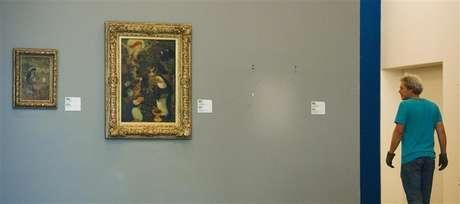 Um espaço vazio na parede marca o local onde a pintura roubada de Henri Matisse era exposta na galéria Kunsthal de Roterdã, nos Países Baixos. 16/10/2012