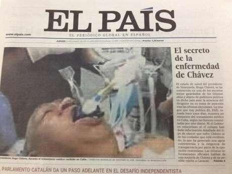 Esta es la portada de El País de este jueves. Más tarde, los directivos del medio retiraron de circulación esta edición y la reemplazaron por una nueva.