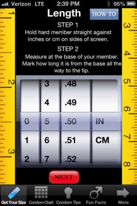 Aplicativo dá instruções passo a passo sobre como descobrir o tamanho certo da camisinha