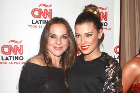 It's party time!  Terra hit the launch party for CNN Latino in L.A. and there were a ton of celebs there.  Here's Kate del Castillo alongside Luis Miguel's daughter, Michelle Salas.