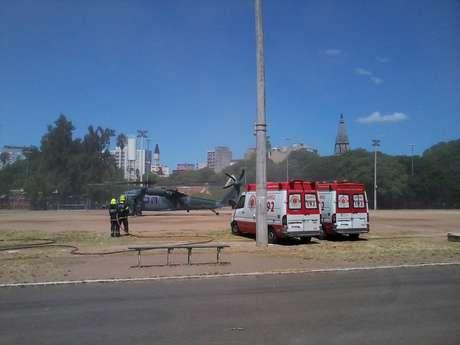 A maior parte dos feridos graves está sendo transferida para Porto Alegreem helicópteros e aeronaves da Força Aérea Brasileira