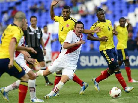 Colombia knocked off Peru to clinch a berth in the U-20 World Cup