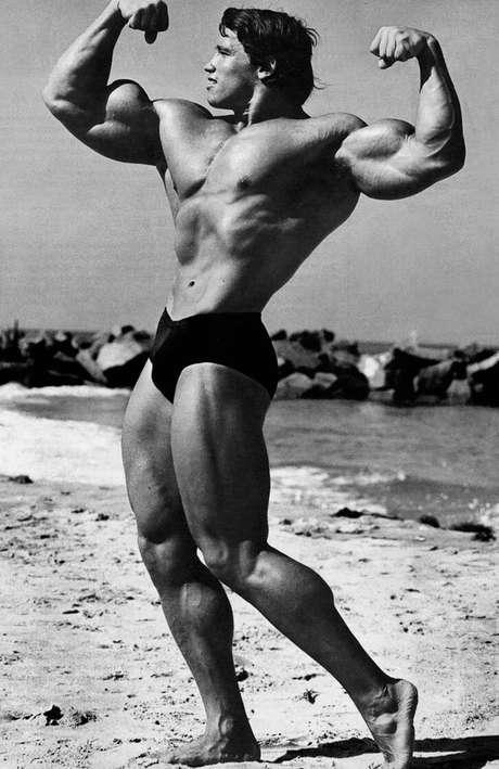 La supuesta foto muestra a un joven Arnold Schwarzenegger mientras sostiene relaciones sexuales con una mujer.