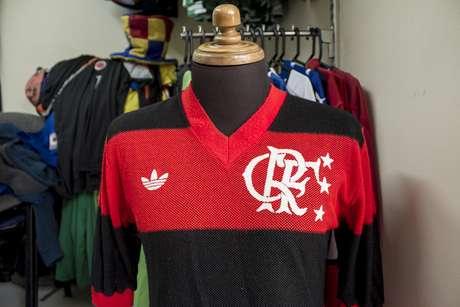 Una joya más. Camiseta de Flamengo Adidas de 1981 usada frente al Deportivo Cali.
