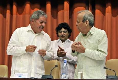 Lula acompanhou Fernando Morais em lançamento de livro