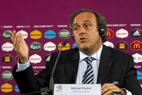 <p>Ex-meia francês Michel Platini é o presidente da Uefa desde 2007</p>