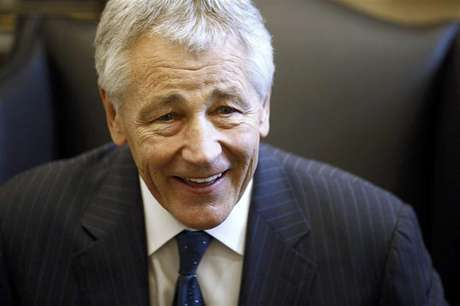 Chuck Hagel reacts during meeting on Capitol Hill in Washington in this January 23, 2013 file photo. As Hagel, President Barack Obama's nominee to lead the Pentagon, prepared to meet with senior New York Senator Chuck Schumer in mid-January, the White House stepped in and ensured that the get-together would take place quickly - and in the West Wing. Hagel, 66, a decorated Vietnam War veteran and former two-term Republican senator, emerged as a leading candidate to replace Leon Panetta almost as quickly as the defense secretary announced his retirement.