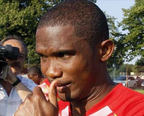 <p>Samuel Eto'o no se corta en hablar de la Federación de Fútbol de Camerún.</p>