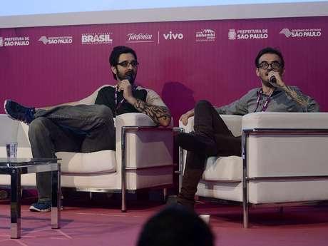 Rafinha e o apresentador da <i>MTV</I> e vlogueiro PC Siqueira comandaram um bate um papo informal e divertido com os campuseiros