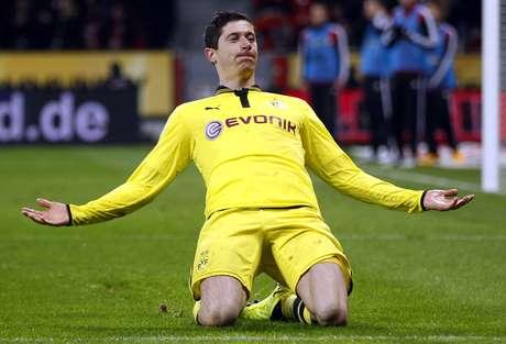 <p>Lewandowski se aproxima do rival Bayern de Munique